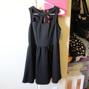 POOF! BLACK CRISS CROSS DRESS